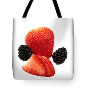 Strawberry Blackberry Tote Bag
