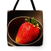 Strawberry In Nested Bowls Tote Bag
