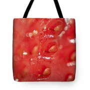 Strawberry Macro Tote Bag