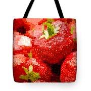 Strawberry Mosaic Tote Bag