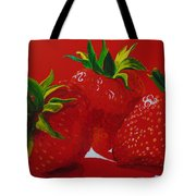 Strawberry Red Tote Bag
