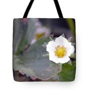 Strawberrys Flower Tote Bag