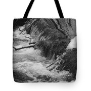 Stream Cascades Over Small Dam Tote Bag
