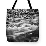 Stream Fall Colors Great Smoky Mountains Painted Bw  Tote Bag