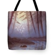 Stream In Mist Tote Bag