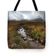 Stream On Rannoch Moor  Tote Bag