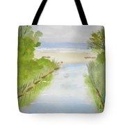 Stream Running To The Ocean Tote Bag