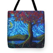 Streaming Along Tote Bag