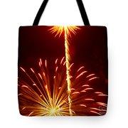 Streaming Fireworks Tote Bag