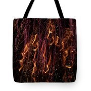Streams Of Gold And Purple Tote Bag