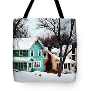 Street After Snow Tote Bag