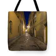 Street Alley By Night Tote Bag