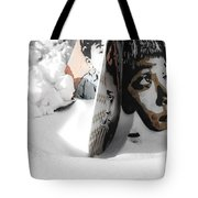 Street Art In The Snow Tote Bag