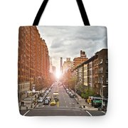 Street As Seen From The High Line Park Tote Bag