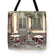 Street Cafe In Heidelberg Tote Bag