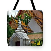 Street Entry To Wat Po In Bangkok-thailand Tote Bag