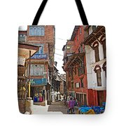 Street In Bhaktapur-city Of Devotees-nepal  Tote Bag