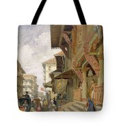 Street In Bombay, From India Ancient Tote Bag