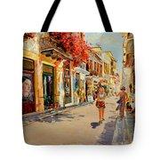 Street In Nafplio Greece Tote Bag