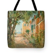 Street In Provincetown Tote Bag by  Childe Hassam