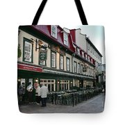 Street In Quebec Tote Bag