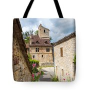 Street In Saint-cirq-lapopie Tote Bag