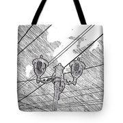 Street Lamps And Straight Lines Tote Bag