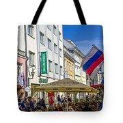 Street Life - Tallin Estonia  Tote Bag