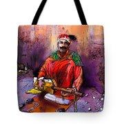 Street Musician In Marrakesh 01 Tote Bag