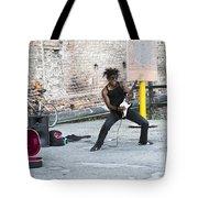 Street Musician Milan Italy Tote Bag