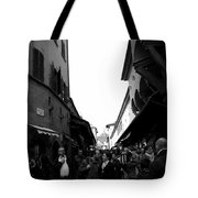 Street Of Florence Tote Bag