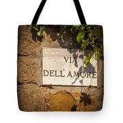 Street Of Love Tote Bag