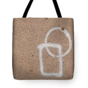 Street Painting With Leaf Tote Bag