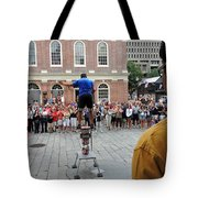 Street Performer Faneuil Hall Market Boston Tote Bag