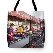 Street Restaurant In Phnom Penh Cambodia Tote Bag