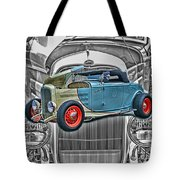 Street Rod In Grill Tote Bag