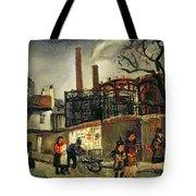 Street Scene In Paris, 1926 Tote Bag