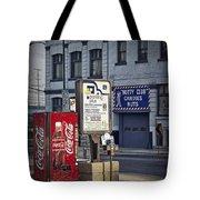 Street Scene With Coke Machine No. 2110 Tote Bag
