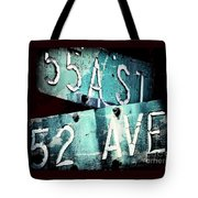 Street Sign In The Dark Tote Bag