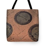 Street Water Covers Tote Bag