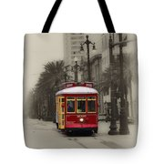 Streetcar On Canal Street - New Orleans Tote Bag