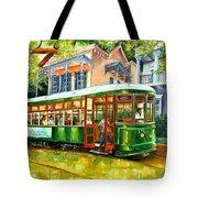Streetcar On St.charles Avenue Tote Bag