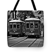 Streetcars New Orleans Tote Bag