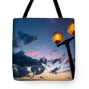 Streetlamp And Cloudy Nightsky Tote Bag