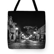 Streets Before Christmas Tote Bag