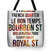 Streets Of New Orleans 1 Tote Bag by Naxart Studio
