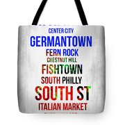 Streets Of Philadelphia 1 Tote Bag