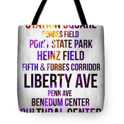 Streets Of Pittsburgh 1 Tote Bag