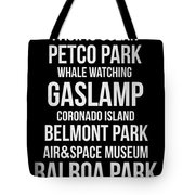 Streets Of San Diego 2 Tote Bag