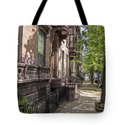 Streets Of Troy New York Tote Bag